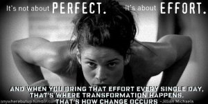 no perfection but efforts
