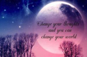 change yr thoughts and change ur world
