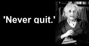Alb Eins never quit
