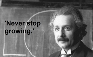 Albert_Einstein_Message Never stop growing