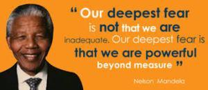 Mandela deepest fear