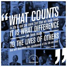 Mandela what counts in life