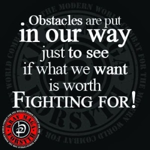 Obstacles are placed in our way