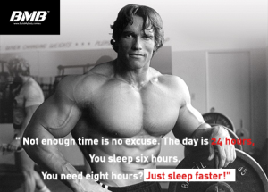 Arnold-Schwarzenegger-sleep faster