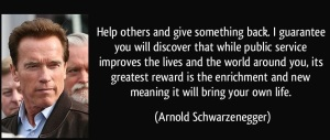 giving back arnold